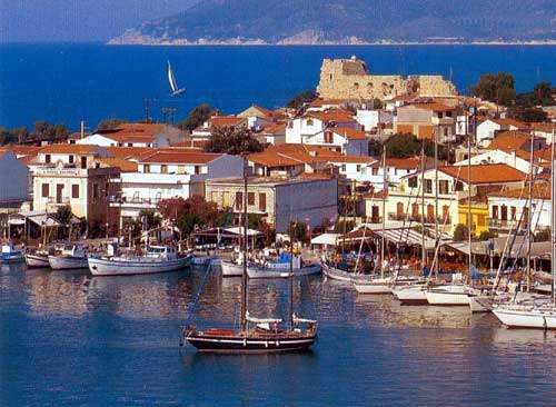 Built on the ruins of the ancient city of Samos during the time of Polycrates, it condenses more than twenty - six centuries of Greek history. It is the main to