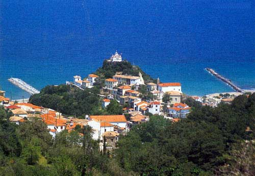 Stretched out imposingly in the more northern side of island Samos and gone around from green villages with a lot of vegetation and beaches with crystal clear w